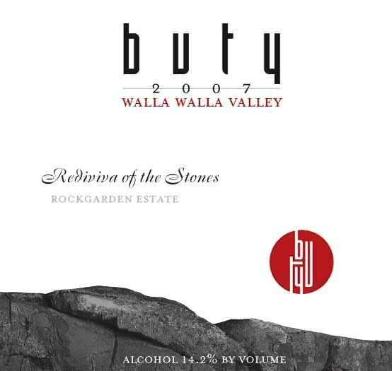 Buty Rediviva of the Stones 2007  Front Label