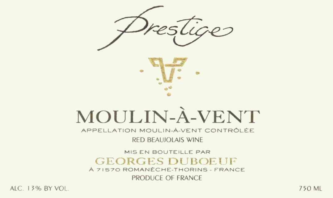 Duboeuf Moulin-a-Vent Prestige 2003  Front Label