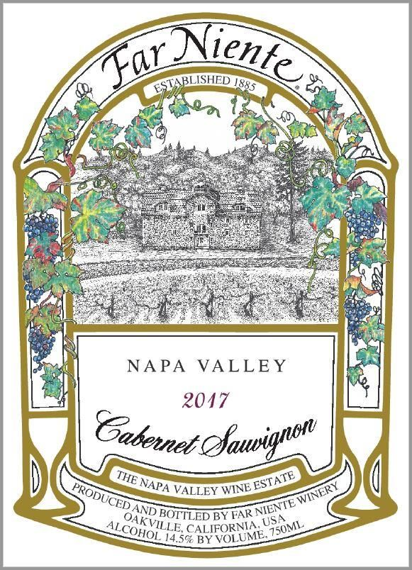 Far Niente Napa Valley Cabernet Sauvignon 2017  Front Label