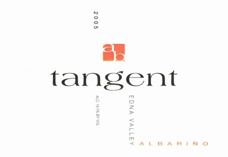 Tangent Edna Valley Albarino 2005  Front Label
