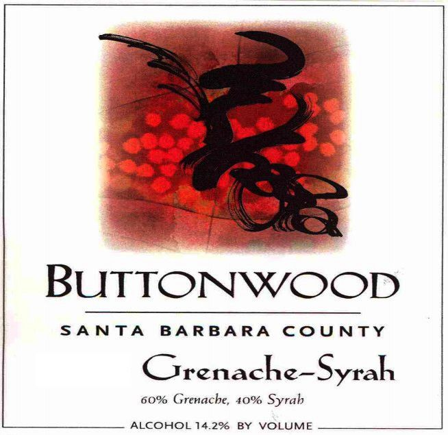 Buttonwood Farms Grenache-Syrah 2011 Front Label