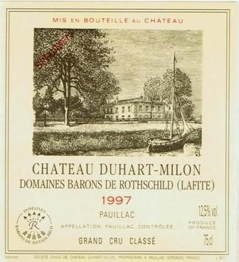 Chateau Duhart-Milon  1997  Front Label