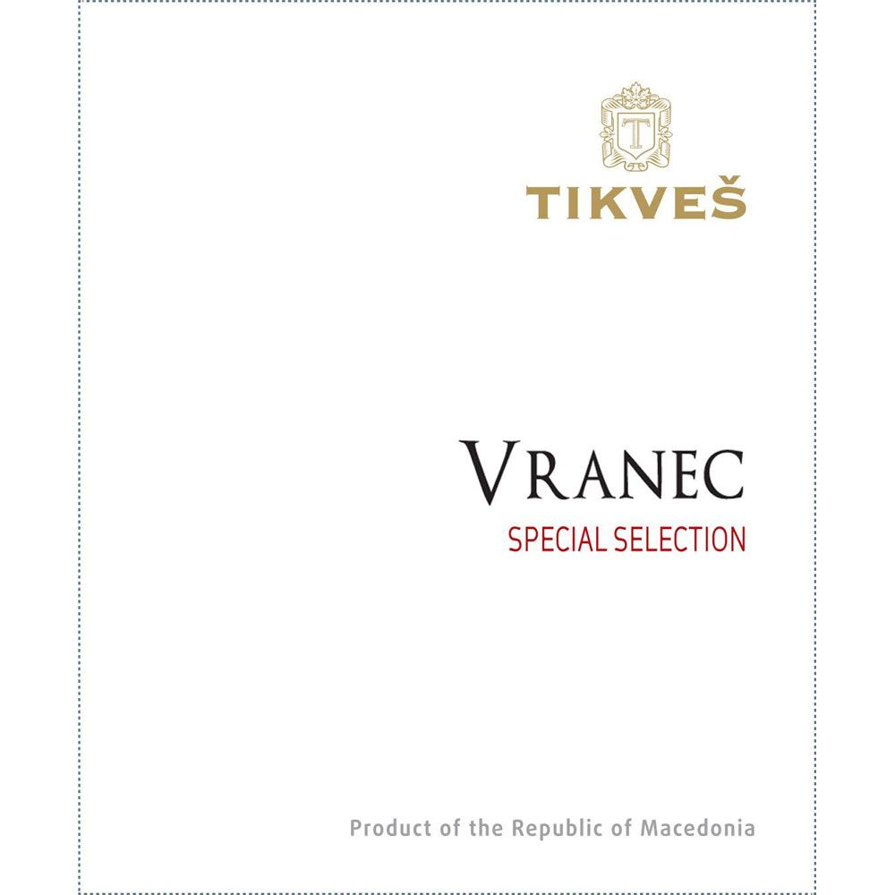 Tikves Vranec Special Selection 2015  Front Label