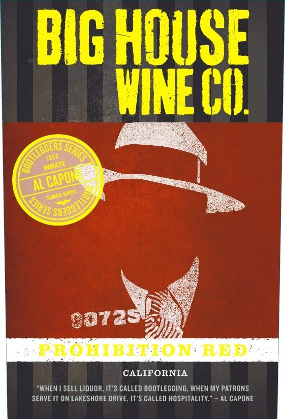 Big House Prohibition Red Blend 2017 Front Label