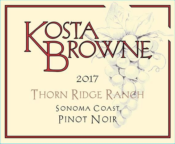 Kosta Browne Thorn Ridge Vineyard Pinot Noir 2017  Front Label
