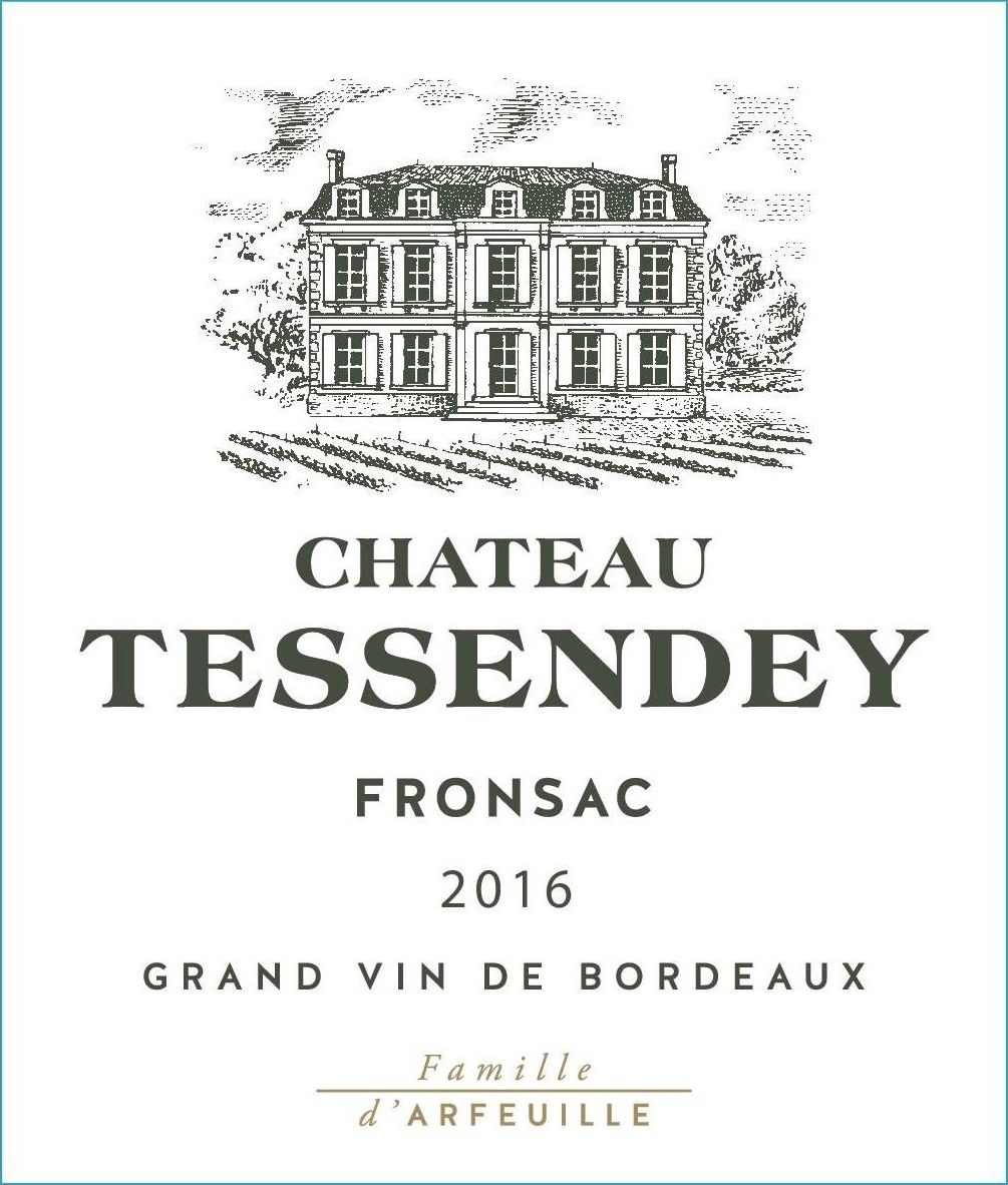Chateau Tessendey  2016  Front Label