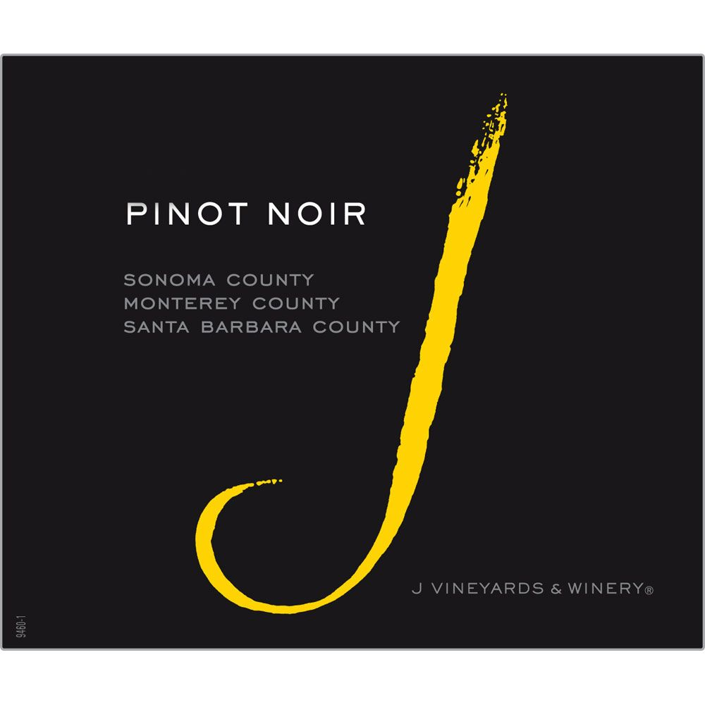 J Vineyards California Pinot Noir 2017 Front Label