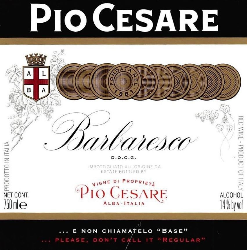 Pio Cesare Barbaresco 2015  Front Label