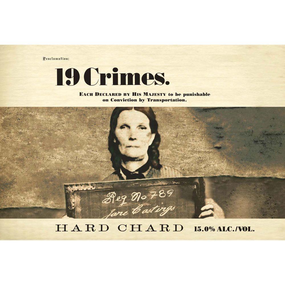 19 Crimes Hard Chard 2018 Front Label