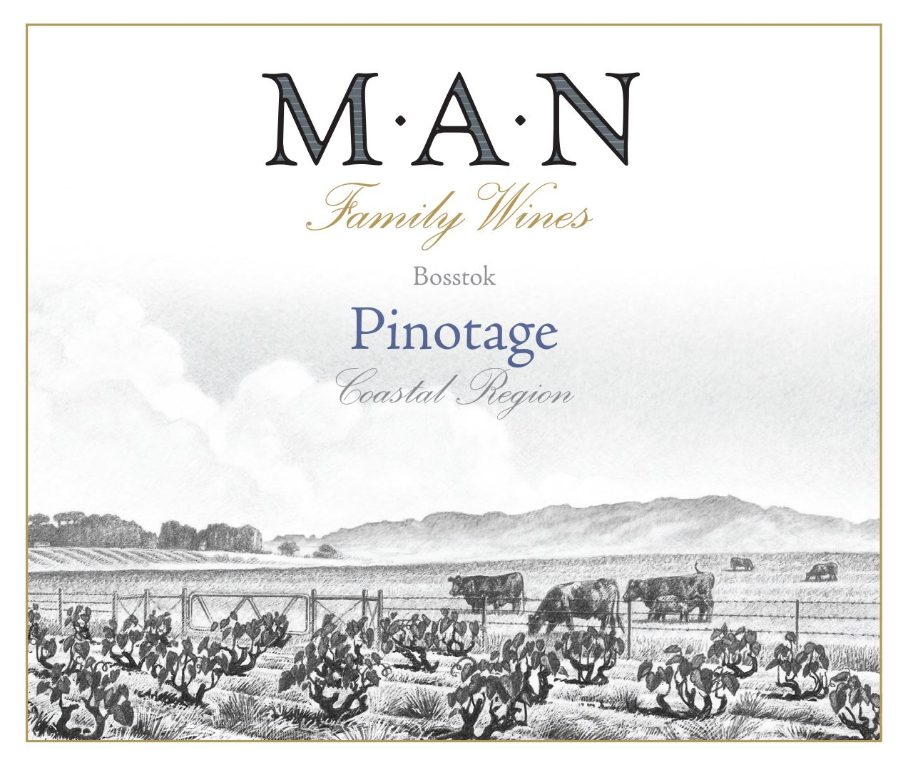 MAN Family Wines Pinotage 2018  Front Label