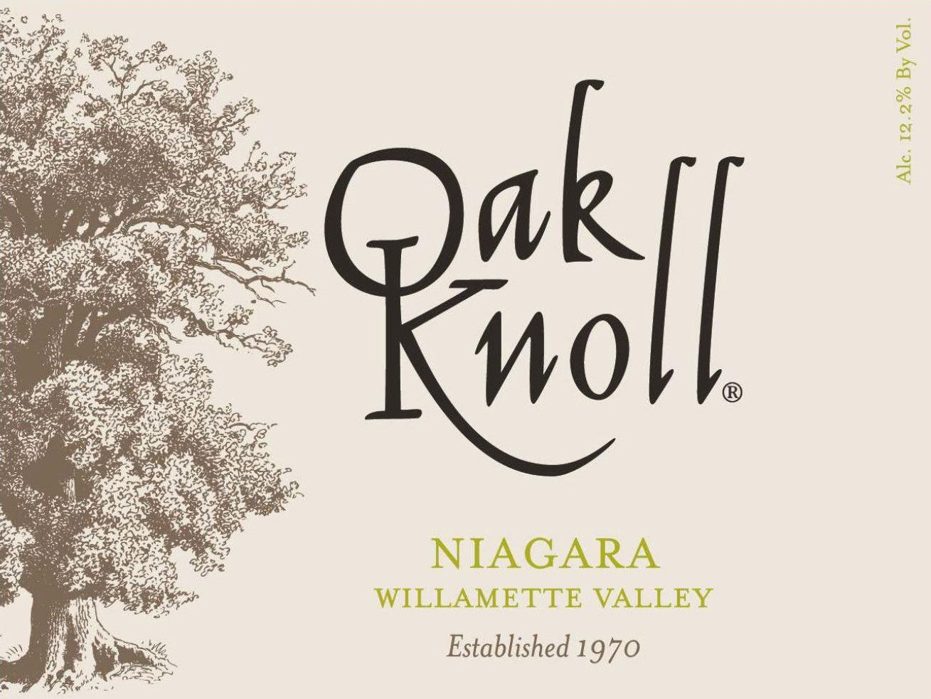 Oak Knoll Niagara  Front Label