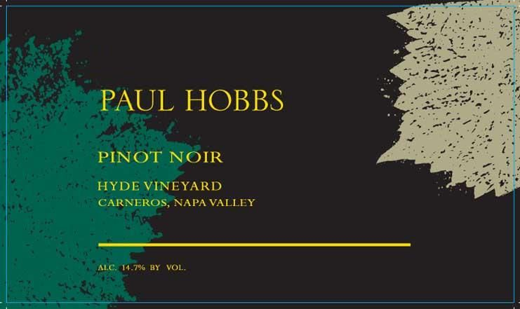 Paul Hobbs Hyde Vineyard Pinot Noir 2018  Front Label