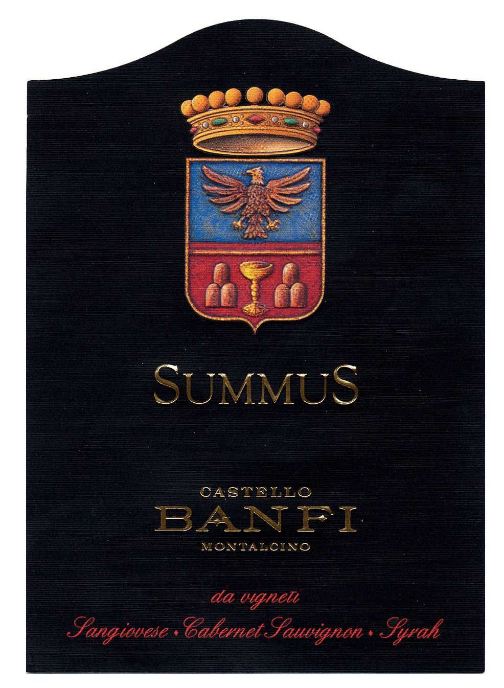 Banfi Summus 2016  Front Label