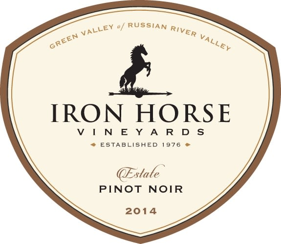 Iron Horse Estate Pinot Noir 2014  Front Label