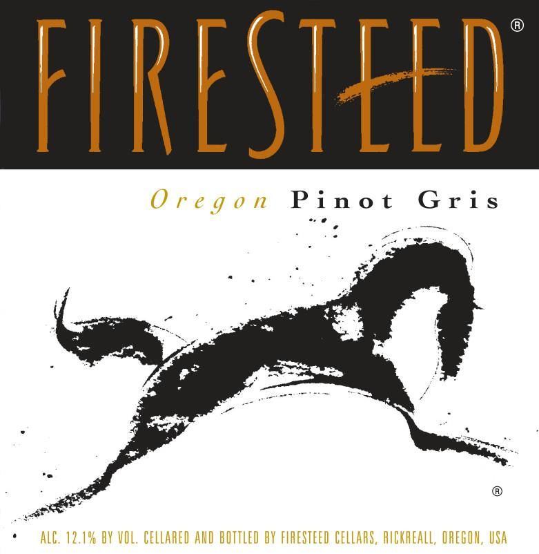 Firesteed Pinot Gris 2018 Front Label