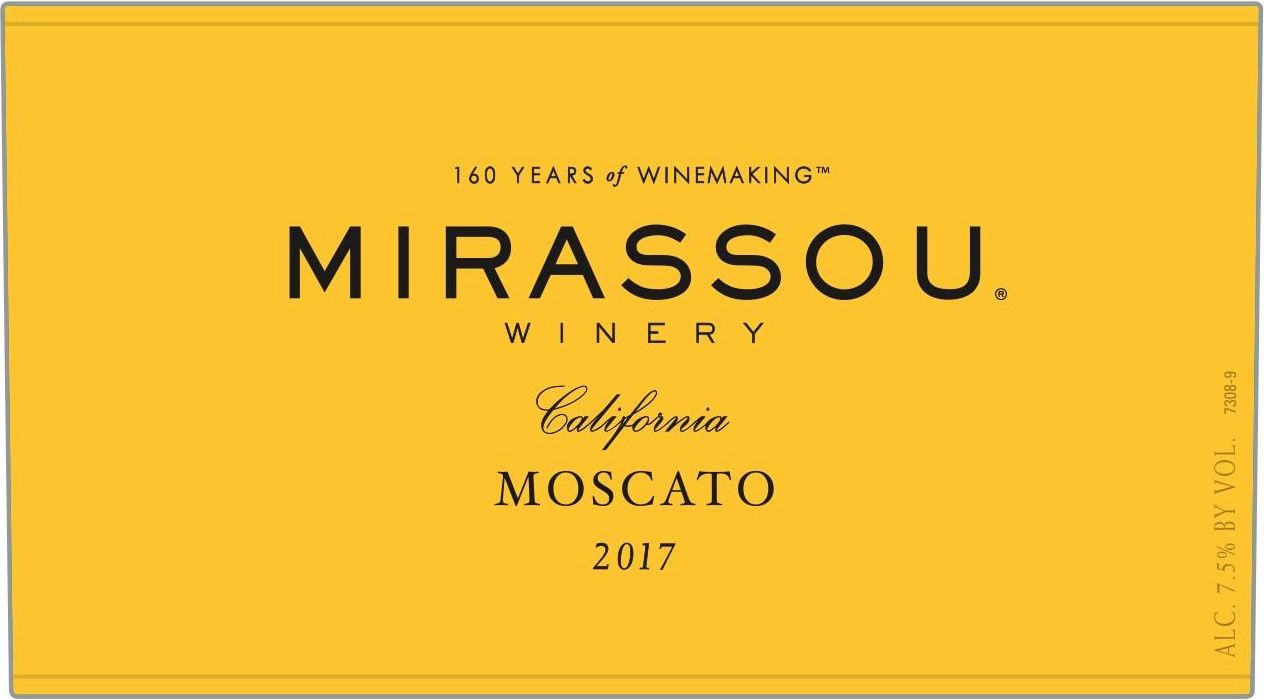 Mirassou Moscato 2017 Front Label