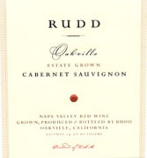Rudd Oakville Estate Grown Cabernet Sauvignon 2002  Front Label