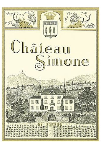 Chateau Simone Rouge 2014  Front Label