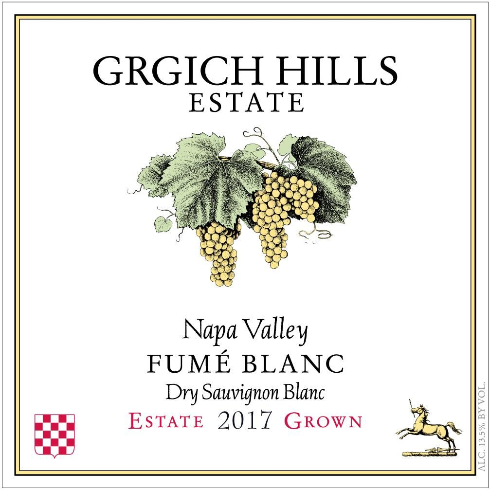 Grgich Hills Estate Fume Blanc (375ML half-bottle) 2017 Front Label