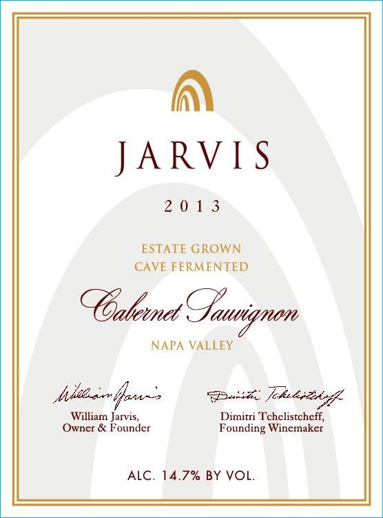 Jarvis Estate Grown Cabernet Sauvignon 2013 Front Label