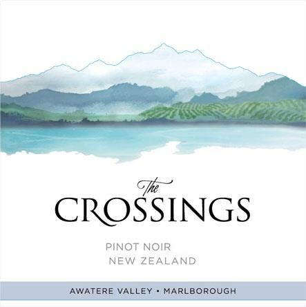 The Crossings Pinot Noir 2018  Front Label