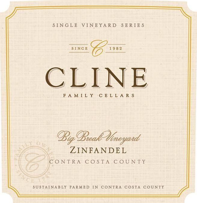 Cline Big Break Zinfandel 2017  Front Label