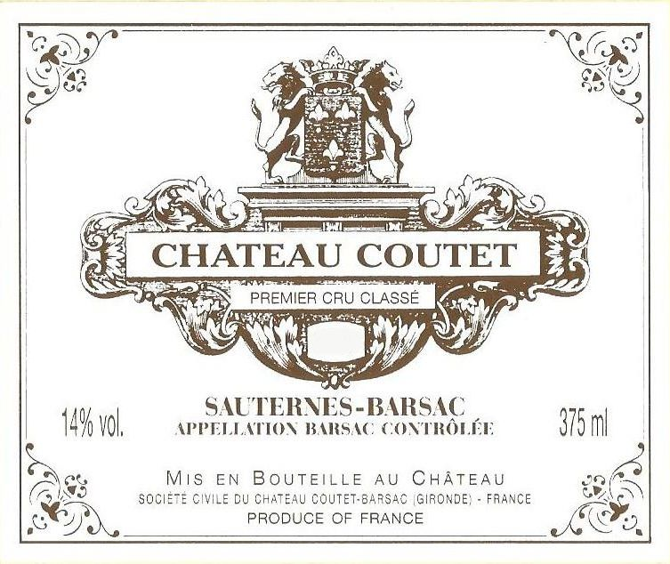 Chateau Coutet (375ML Futures Pre-Sale) 2019  Front Label