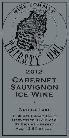 Thirsty Owl Wine Company Cabernet Sauvignon 2012 Front Label