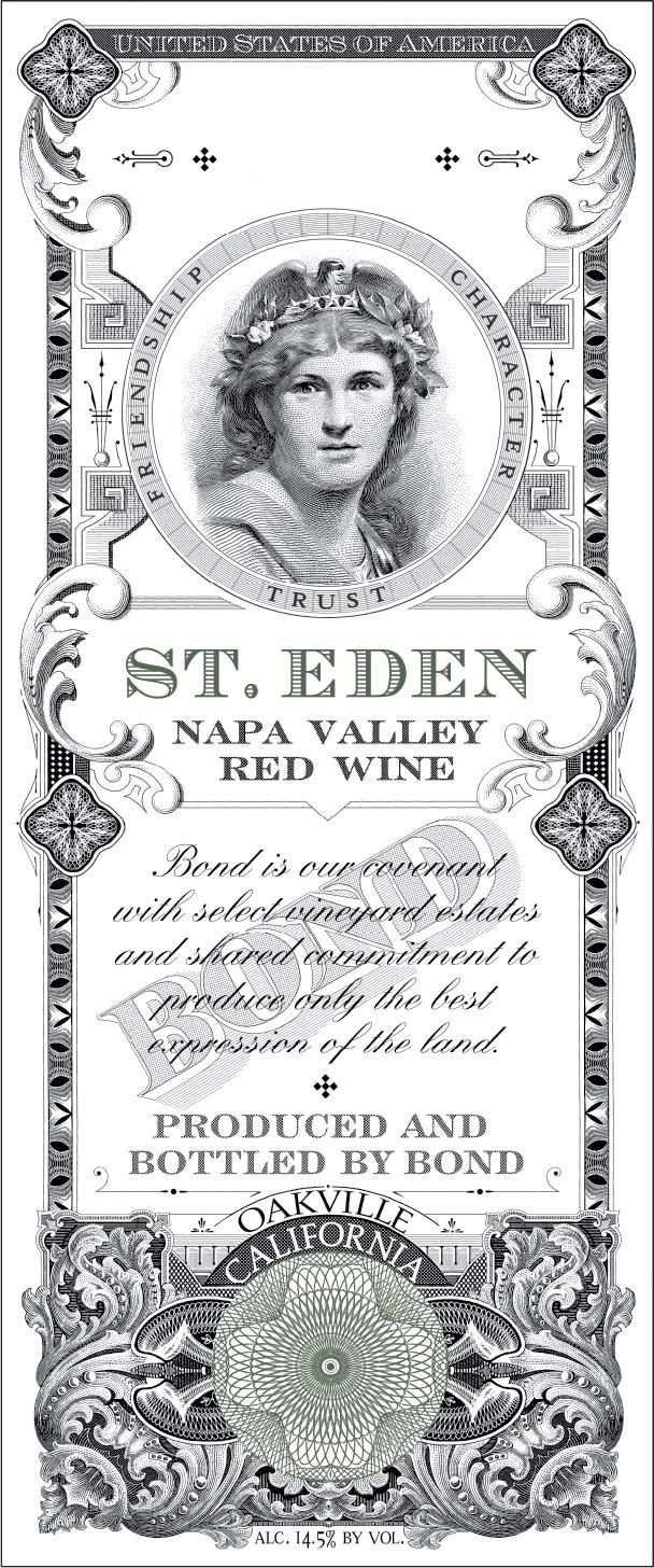 Bond St. Eden 2016  Front Label