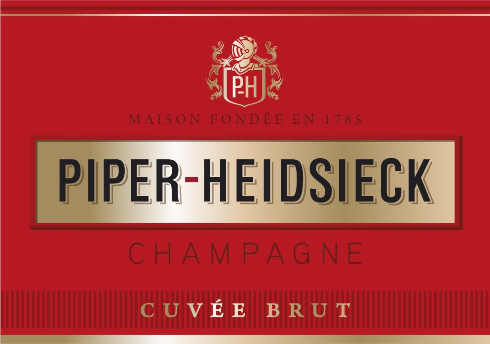 Piper-Heidsieck Cuvee Brut (375ML half-bottle) Front Label