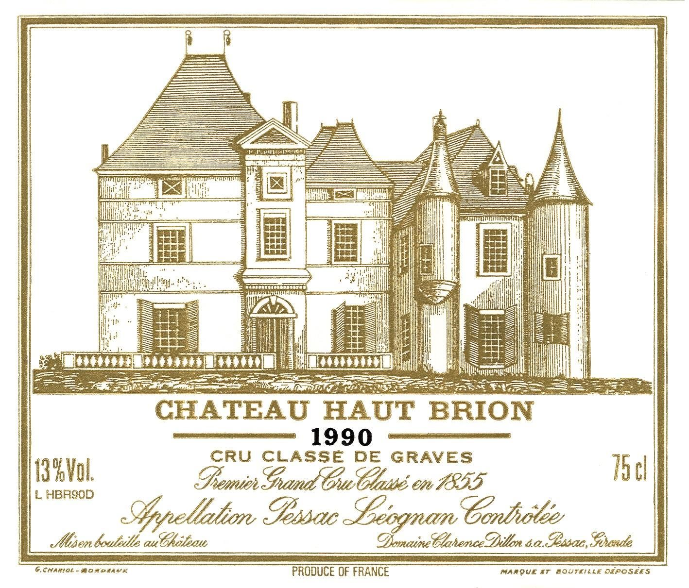 Chateau Haut-Brion (1.5 Liter Magnum - signs of past seepage) 1990 Front Label