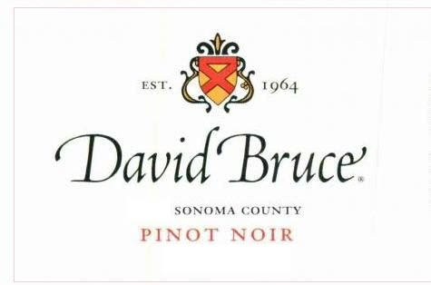 David Bruce Sonoma County Pinot Noir 2017  Front Label