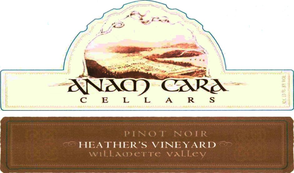 Anam Cara Heather's Vineyard Pinot Noir 2006  Front Label