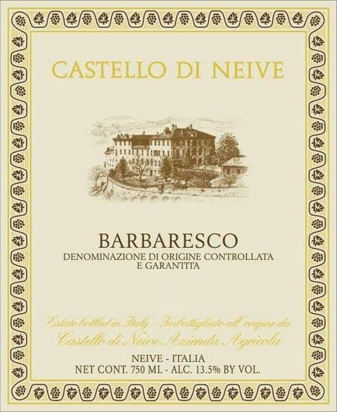 Castello di Neive Barbaresco 2017  Front Label