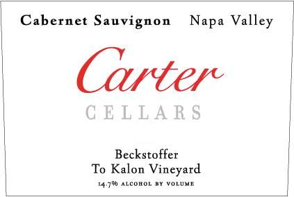 Carter Cellars Beckstoffer To Kalon (375ml half-bottle - signed) 2008 Front Label