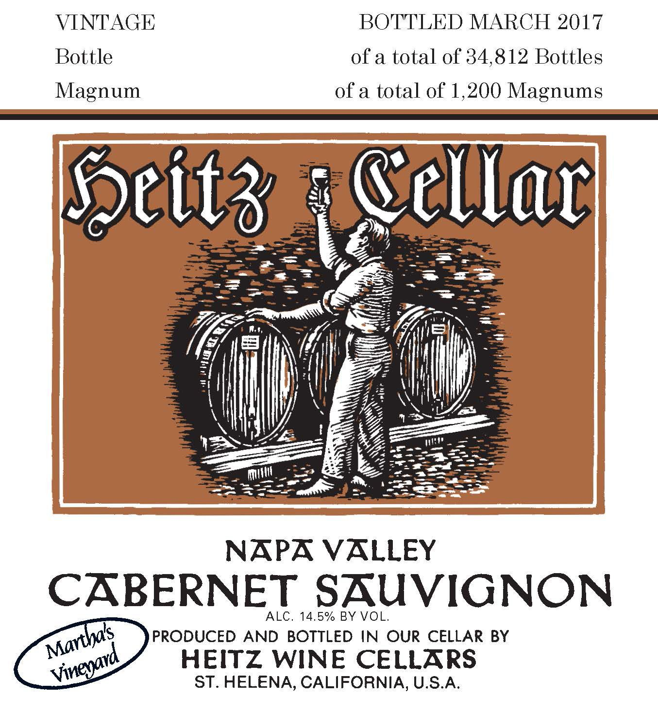 Heitz Cellar Martha's Vineyard Cabernet Sauvignon 2014  Front Label