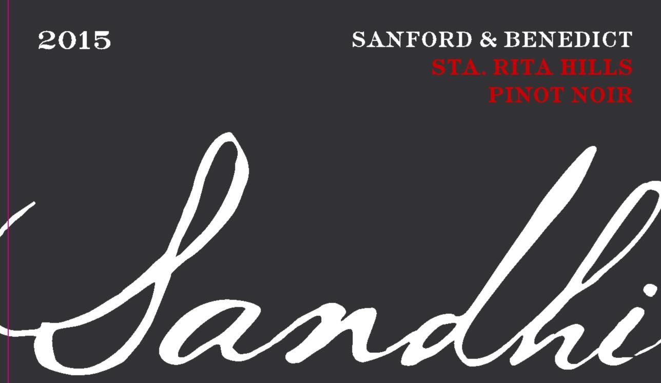 Sandhi Sanford and Benedict Pinot Noir 2015 Front Label