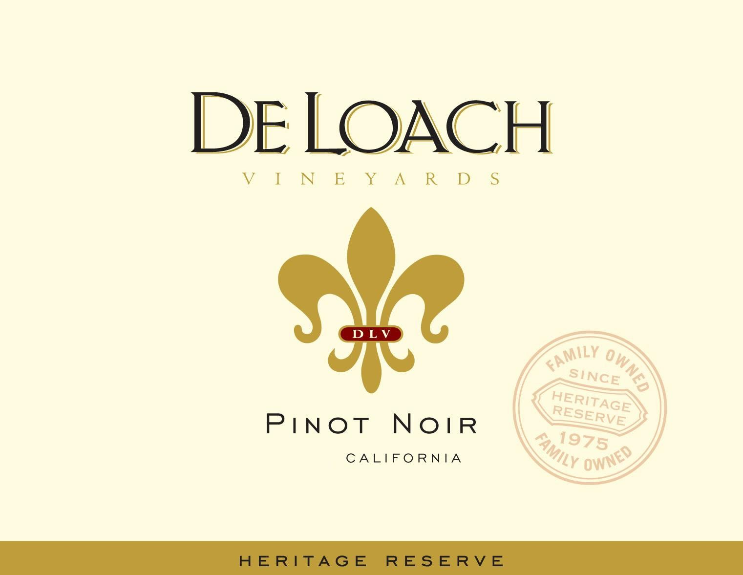 DeLoach Heritage Reserve Pinot Noir 2017 Front Label