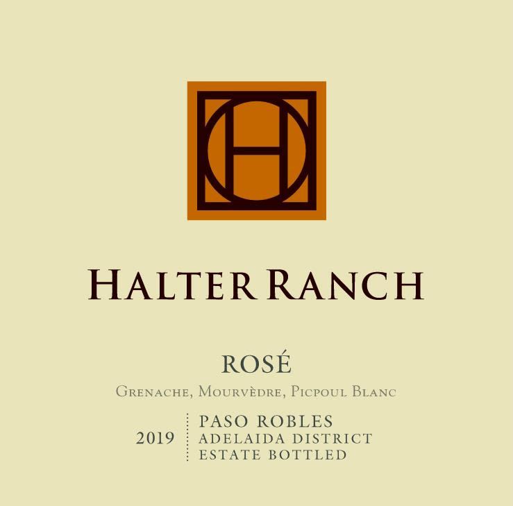 Halter Ranch Vineyard Rose 2019  Front Label