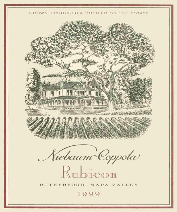 Inglenook Rubicon 1999  Front Label