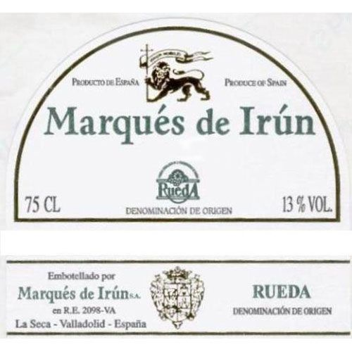 Marques de Irun Blanco 2017 Front Label