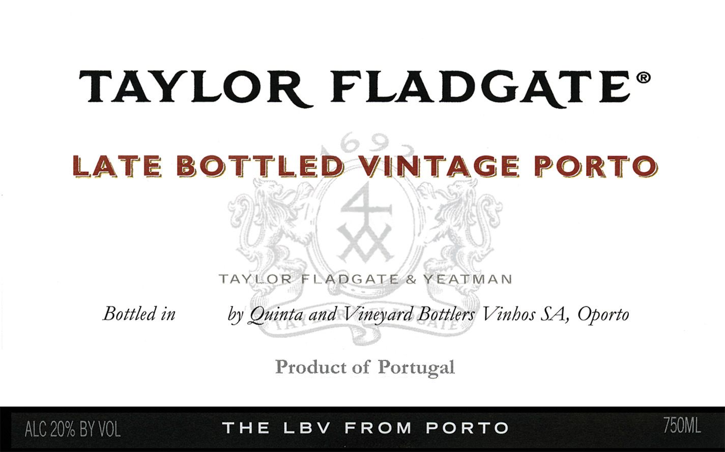 Taylor Fladgate Late Bottled Vintage Port 2015  Front Label