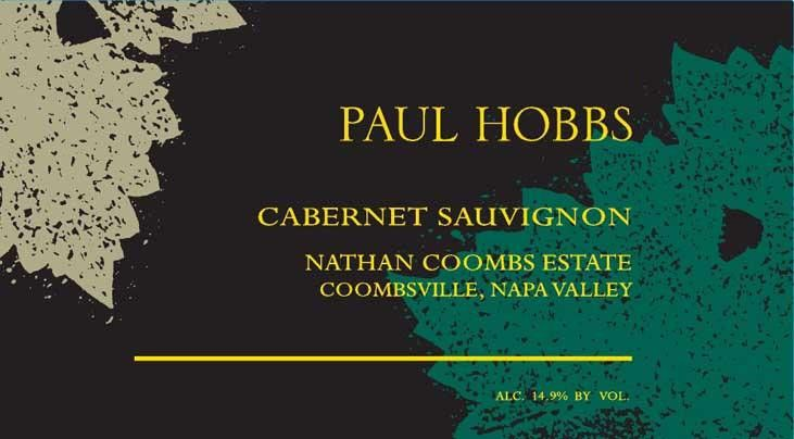 Paul Hobbs Nathan Coombs Estate Cabernet Sauvignon 2016  Front Label