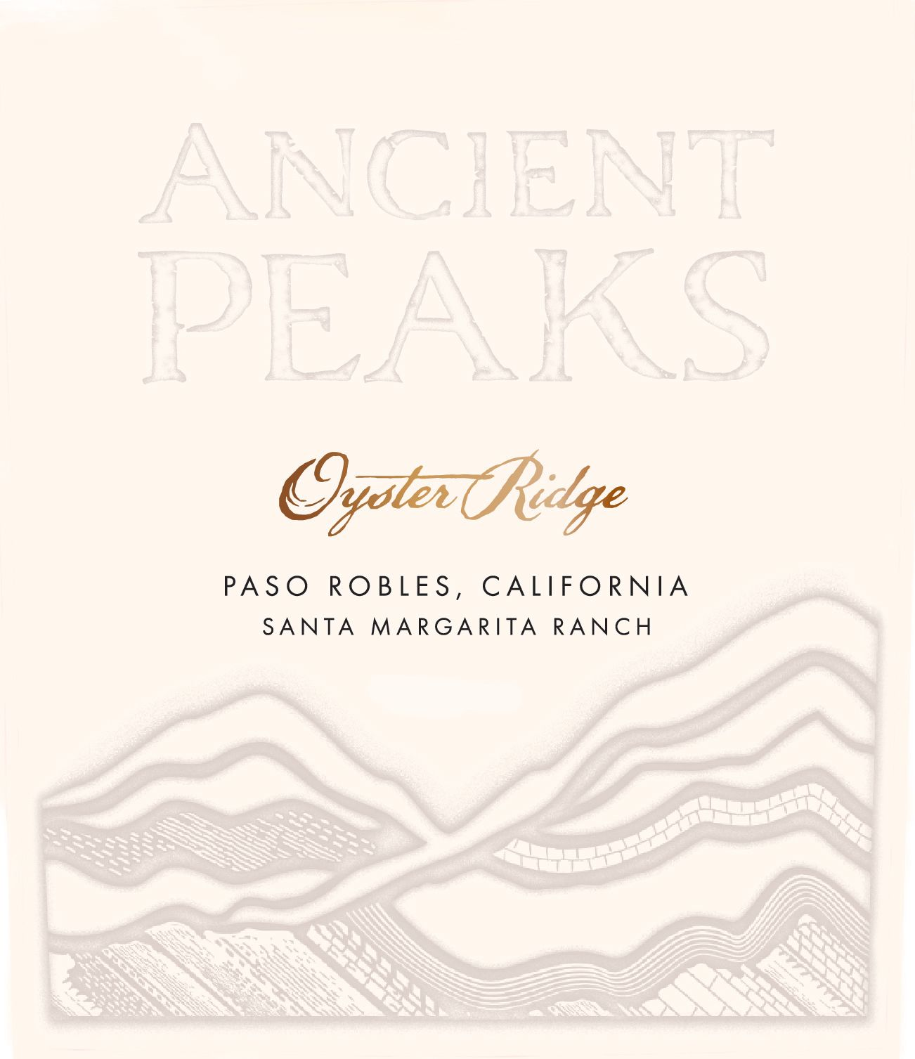 Ancient Peaks Paso Robles Oyster Ridge Red 2017  Front Label
