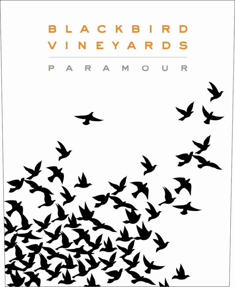 Blackbird Vineyards Paramour Napa Valley Proprietary Red 2015 Front Label