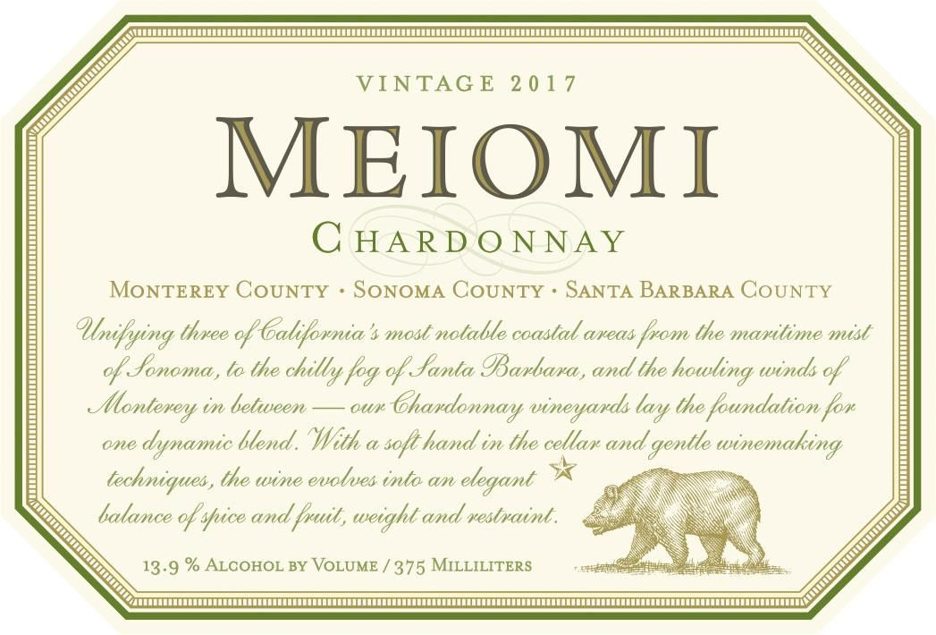 Meiomi Chardonnay (375ML half-bottle) 2017 Front Label