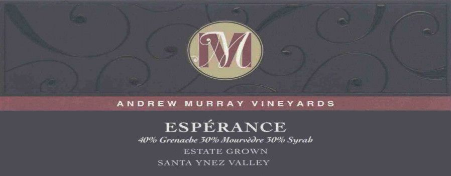 Andrew Murray Esperance Red Blend 2008 Front Label