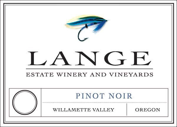 Lange Winery Willamette Valley Pinot Noir 2018  Front Label