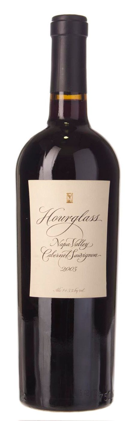 Hourglass Cabernet Sauvignon 2003 Front Bottle Shot