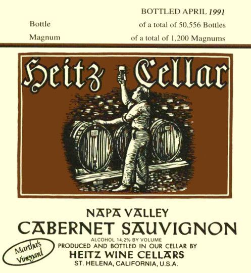 Heitz Cellar Martha's Vineyard Cabernet Sauvignon 1989  Front Label
